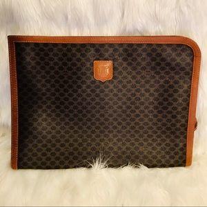 Vintage Celine Macadam Jumbo Clutch Laptop Sleeve